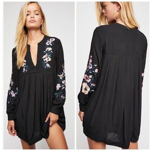 nwt //free people mia gauze embroidered mini dress